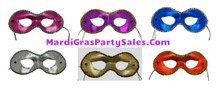 6 Pc Fancy Masquerade Mask Set pink purple silver gold red blue