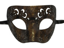 Bronze Leather Laser Cut Venetian Masquerade Prom Western Mask