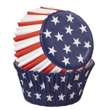 Red White Blue Stars 75 Baking Cups Cupcake Liners Wilton
