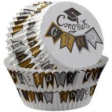 Congrats Grad! 75 Baking Cups Standard Cupcake Liners Wilton