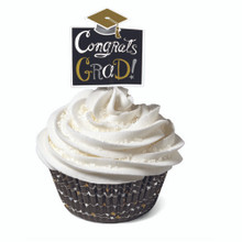 Wilton Congrats Grad! Cupcake Kit 24 Baking Cups Picks