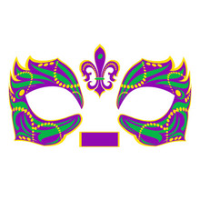 Masque Rage Temp Tattoo Mask Mardi Gras Masquerade Costume