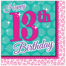 Sparkle Spa 13th Happy Birthday Party 16 Lunch Napkins