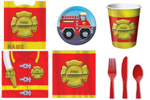 FireFighter Deluxe Party Pack 8 guests Plates Napkins Cups Loot Bags