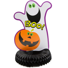 Pumpkin BOO ! Halloween Party Honeycomb Centerpiece Ghost