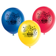 "Paw Patrol 8 Ct Latex Balloons12"" Birthday Party Chase Marshall"