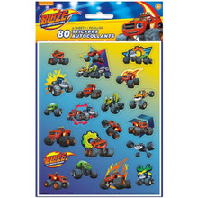 Blaze and the Monster Machines 80 Stickers on 4 Sheets Trucks