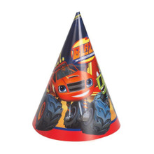 Blaze and the Monster Machines Party Cone Hats 8 Ct Trucks