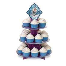 Disney Frozen Olaf Elsa Anna Treat Stand 24 Cupcake Holder Party Centerpiece Wilton