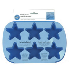 Wilton Mini Stars Silicone Blue Mold 6 Star