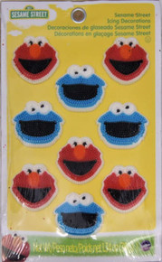 Sesame Street Elmo Icing Decorations 12 Ct Wilton Cookie Monster