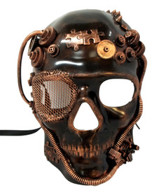 Steampunk Skull Copper Halloween Masquerade Mask