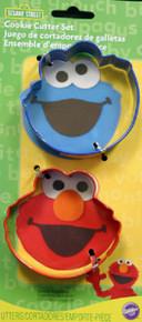 Sesame Street Wilton Metal Cookie Cutter Set 2 Pc Elmo Cookie Monster