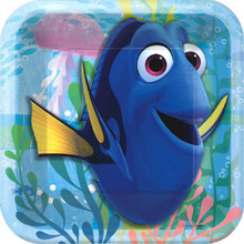 "Finding Dory Birthday Party 7"" Square Dessert Cake Plates 8 Ct"