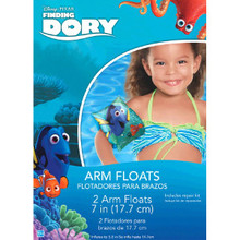 """Finding Dory Inflatable 2 7"""" Arm Floats Plastic w Repair Kit"""