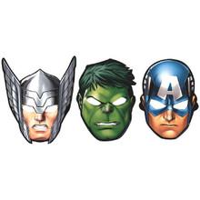 Avengers Paper Masks 8 Ct Captain America Hulk  Thor
