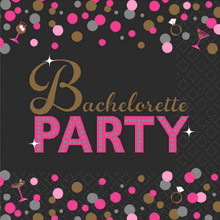 Bachelorette Night 16 Beverage Napkins Shower Bridal