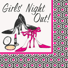 "Bachelorette Party ""Girls Night Out"" 16 Beverage Napkins Shower Bridal"