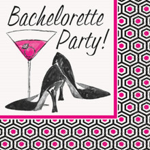 """Bachelorette Party"" 16 Beverage Napkins Shower Bridal"