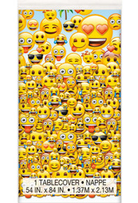 "Emoji Plastic All over Printed Tablecover 54 x 84"" Party"