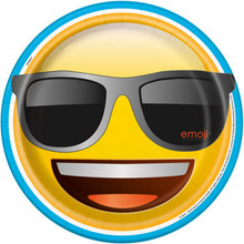 "Emoji 8 9"" Paper Luncheon Dinner Plates Birthday Party"