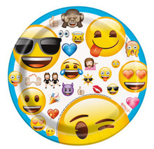 "Emoji 8 7"" Paper Dessert Cake Plates Birthday Party"