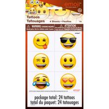 Emoji 24 Tattoos Temporary Birthday Party Favors
