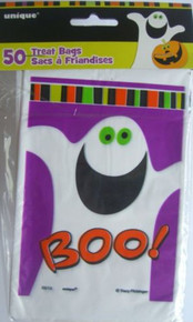 Halloween Boo! Ghost Trick or Treat Bags Party Favor 50 ct