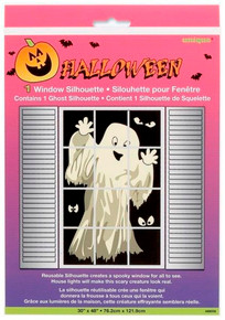 Window Silhouette Ghost Halloween Decoration
