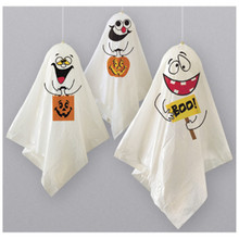 3 Whimsical Ghosts Hanging Halloween Balloon Decorations 33""