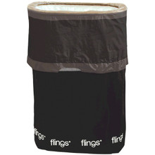 Flings Pop Up Trash Bin Black 13 Gallons Disposable