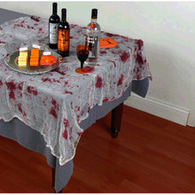 "Asylum Tablecloth Bloody Gauze 60"" x 84"""