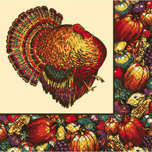 Autumn Turkey 20 Luncheon Napkins Fall Thanksgiving