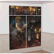 Haunted Mansion Scene Setters Wall Decoration Kit Halloween