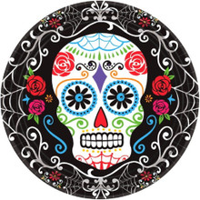 "18 Day of the Dead 7"" Dessert Cake Plates Halloween Party"