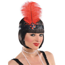 Gatsby Girl Roaring 20's Flapper Headpiece Headband