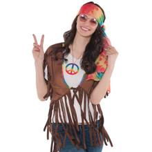 Groovy 60's Hippie Vest Womens Adult Standard