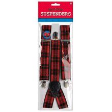 Nerd Geek Chic Plaid Suspenders