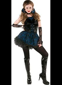 Midnight Vamp 5 Pc Costume Junior Large 11-13