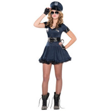 Deluxe Locked N Loaded 6 Pc Costume Junior Med 7 - 9 Policewoman