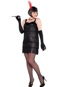 Flashy Flapper Roaring 20's Costume Women's Plus 18-20