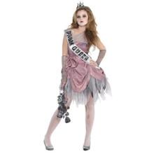 Zom Queen Costume Junior Large 11-13 Zombie Prom