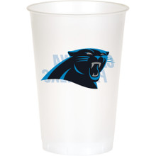 Carolina Panthers NFL 8 20 oz Cups Plastic Football Tailgating Party