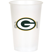 Green Bay Packers NFL 8 20 oz Cups Plastic Football Tailgating Party