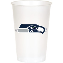 Seattle Seahawks NFL 8 20 oz Cups Plastic Football Tailgating Party