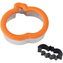 Pumpkin with Mini Bat Comfort Grip Cookie Cutter Set Wilton