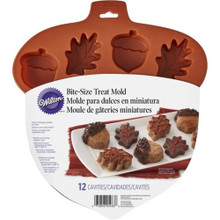 Wilton Acorn Leaf Silicone Treat Mold 12 Cavities