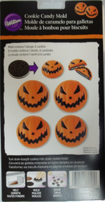 Wilton Scary Jack O'Lantern Pumpkin Candy Melts Mold