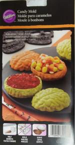 Wilton Brain Candy Mold Dispenser Container 1 design makes 3