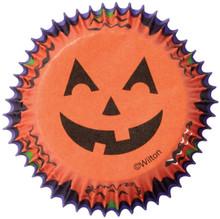 Jack O'Lantern Halloween 75 Baking Cups Cupcake Liners Wilton